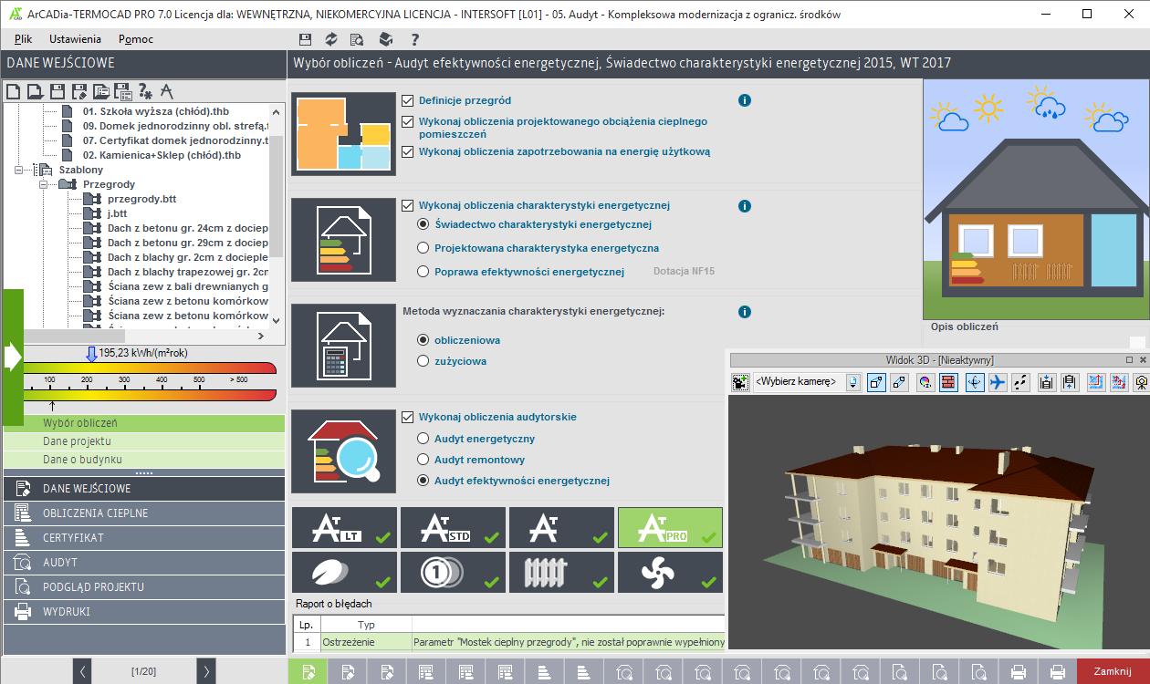 Arcadia Termocad Pro Efektywność Energetyczna Budynków Audyt
