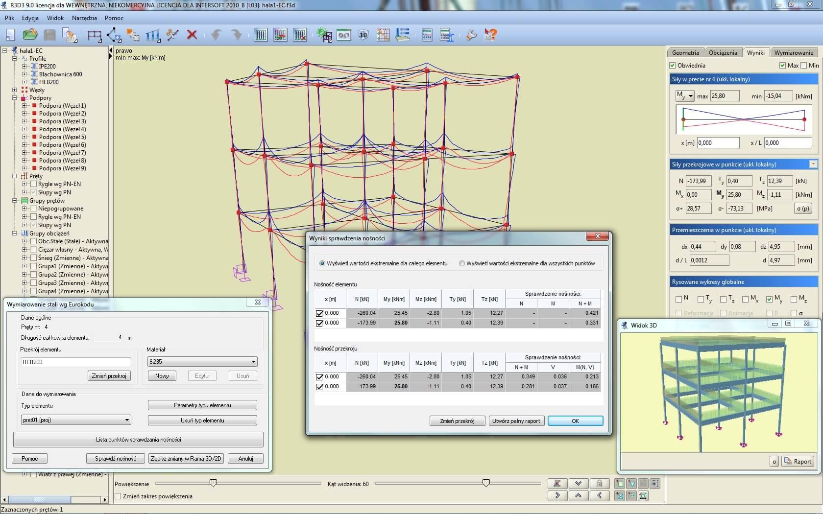 Program EuroStal dla R3D3-Rama 3D