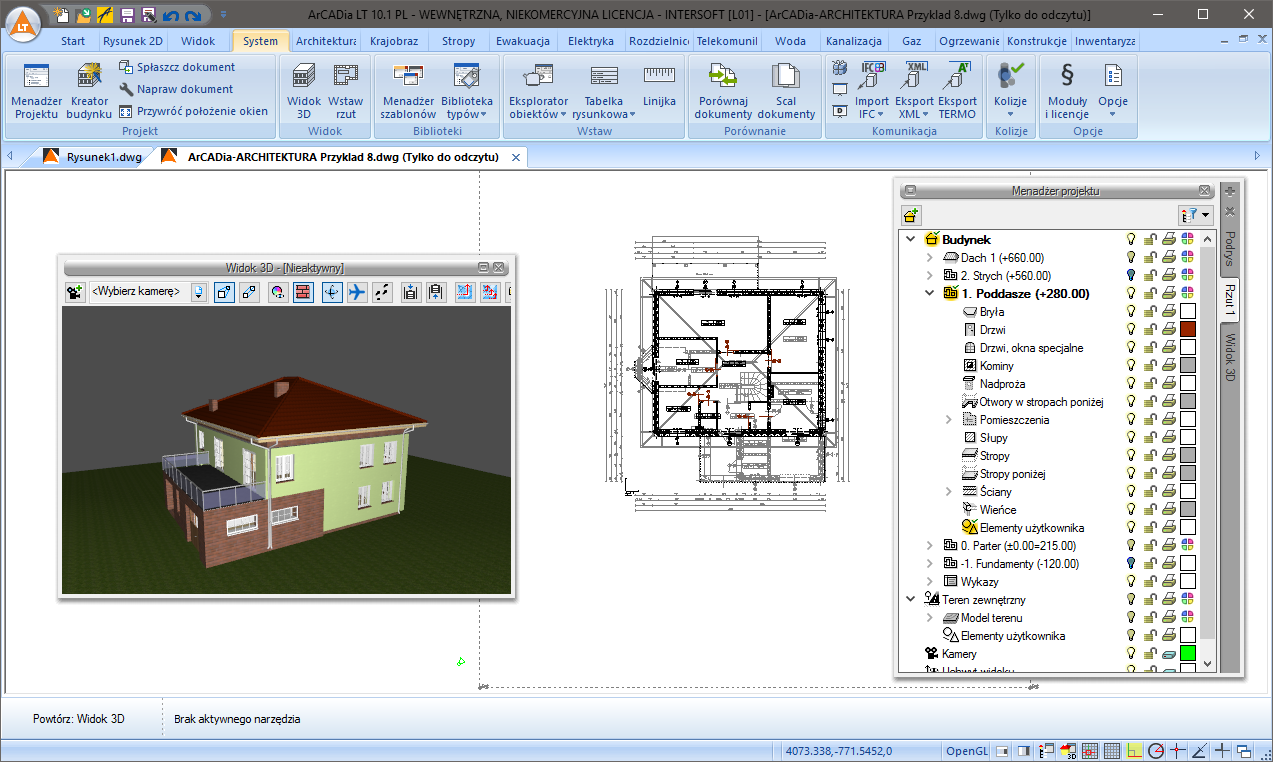 how to go from 3d to 2d cad lt