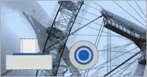 Program EuroZłącza ZAKOTWIENIE SŁUPA OKRĄGŁEGO + DXF