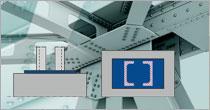 Program EuroZłącza ZAKOTWIENIE SŁUPA DWUGAŁĘZIOWEGO + DXF 3.0