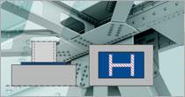 Program EuroZłącza ZAKOTWIENIE SŁUPA DWUTEOWEGO + DXF 3.0
