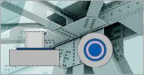 Program EuroZłącza ZAKOTWIENIE SŁUPA OKRĄGŁEGO + DXF 3.0