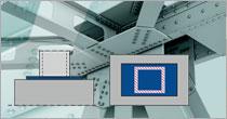 Program EuroZłącza ZAKOTWIENIE SŁUPA PROSTOKĄTNEGO + DXF 3.0